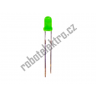 LED zelená, 3mm