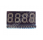 Displej 7seg - 4 číslice, multiplexní zapojení, červené LED