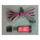 Programátor Atmel AVR, USB-ASP, hliníková krabička - červená