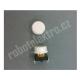 Mikrospínač tlačítkový, s hmatníkem, bílý