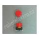 Mikrospínač tlačítkový, s hmatníkem, červený