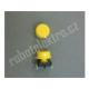 Mikrospínač tlačítkový, s hmatníkem, žlutý